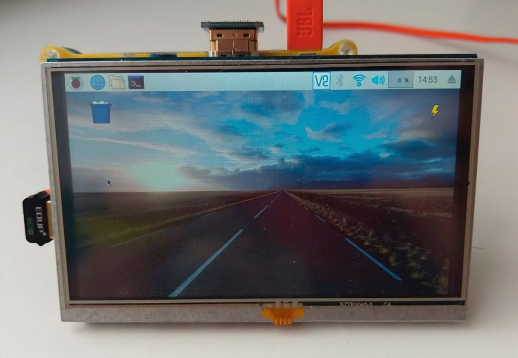 Fullscreen touchscreen Raspberry Pi