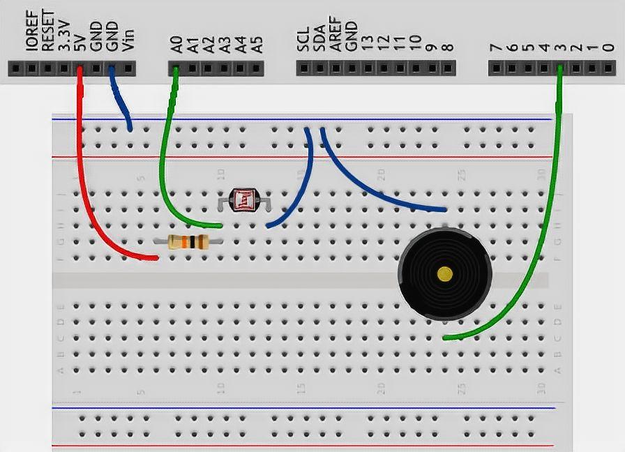 Theremin Arduino Breadboard