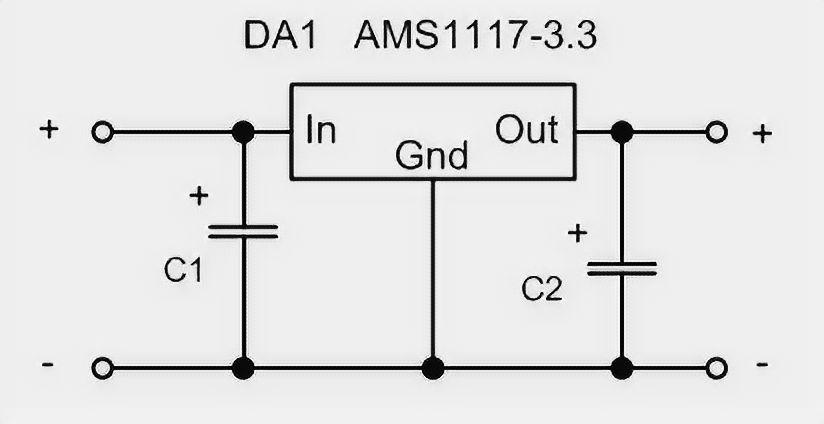 AMS1117 Wiring Diagram