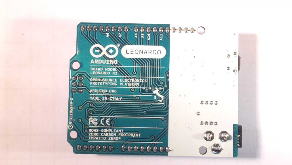 Connection and Firmware of the Arduino Leonardo
