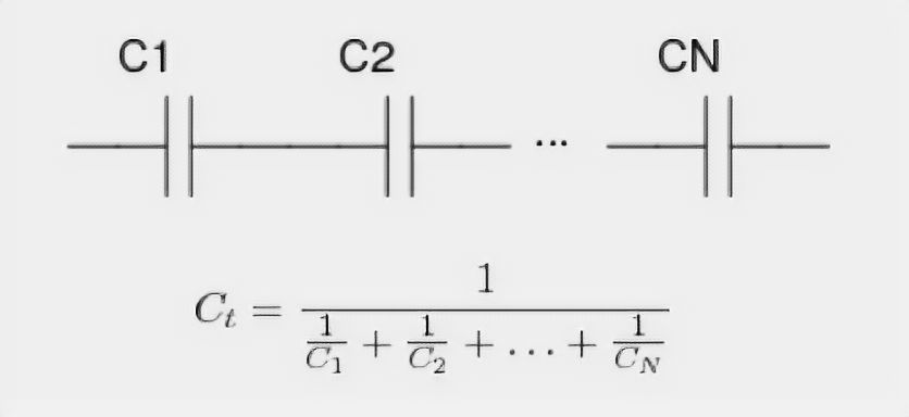 Series connected capacitors