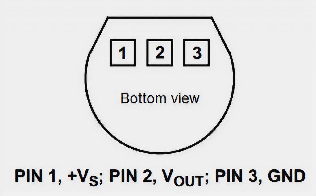LM35 Pinout (Bottom View)