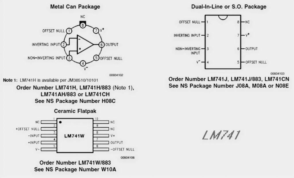 LM741 Pinout