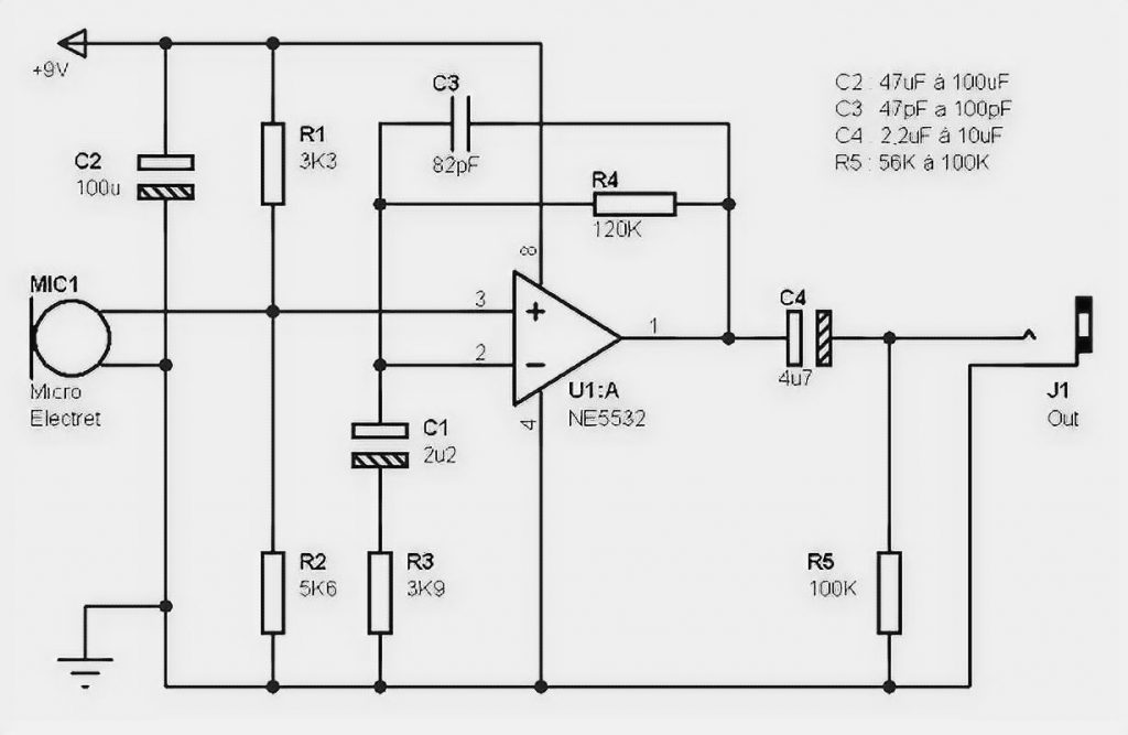 Microphone Preamplifier based on NE5532