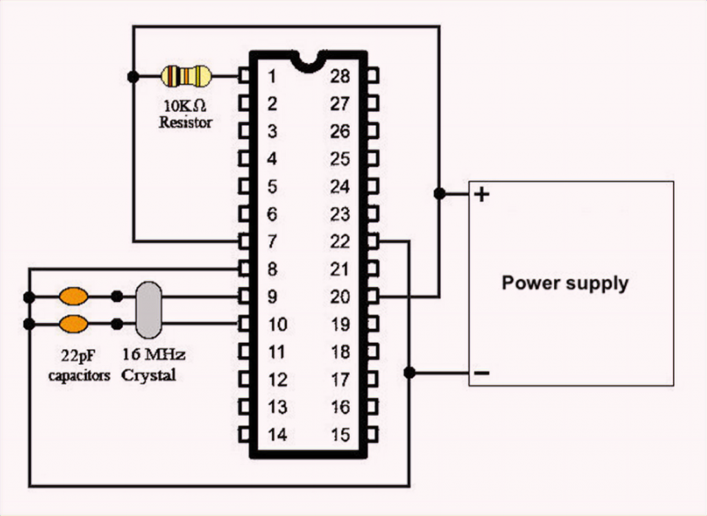 ATmega328P Connecting the Power