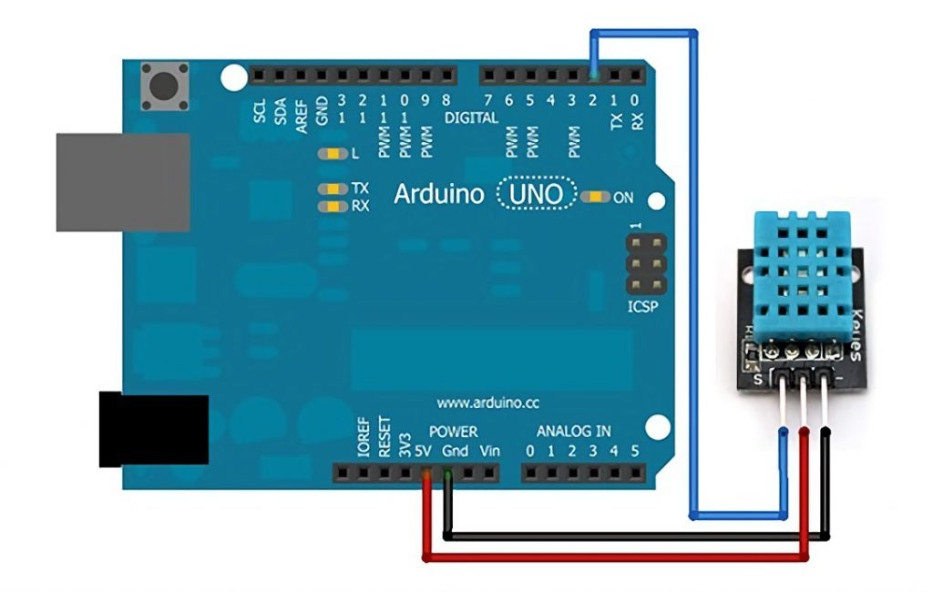 Connecting the DHT11 Sensor to the Arduino Uno