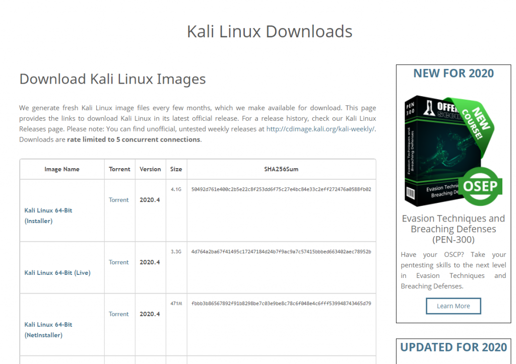 Download Kali Linux for Rasbperry Pi 3