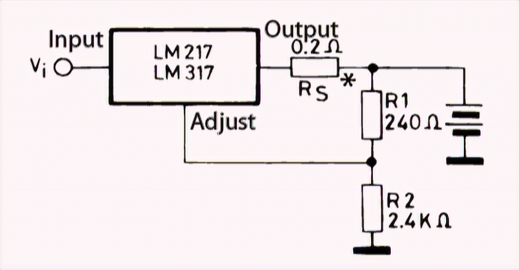12V battery charger based on LM317T