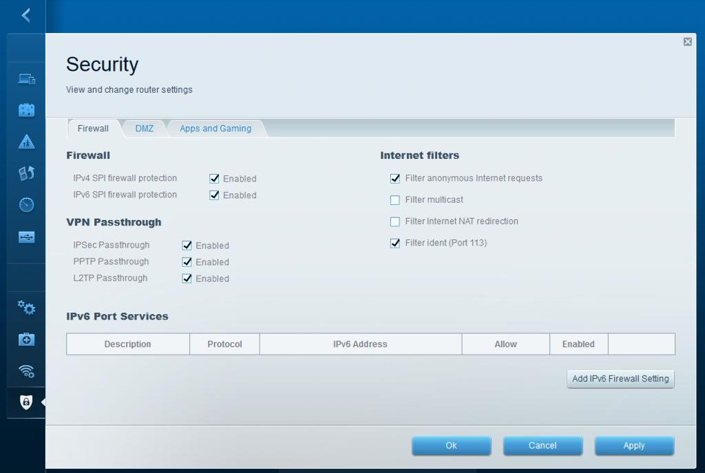 Linksys EA6300 - advanced settings