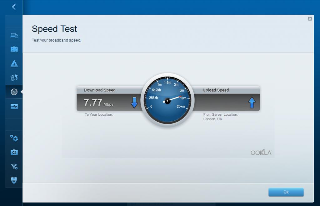 Linksys EA6300 Speed Test