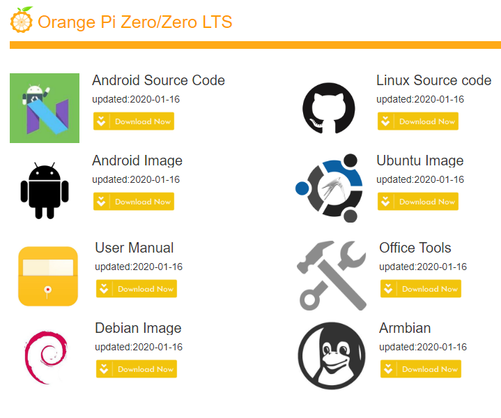 Orange Pi Zero Linux distributions