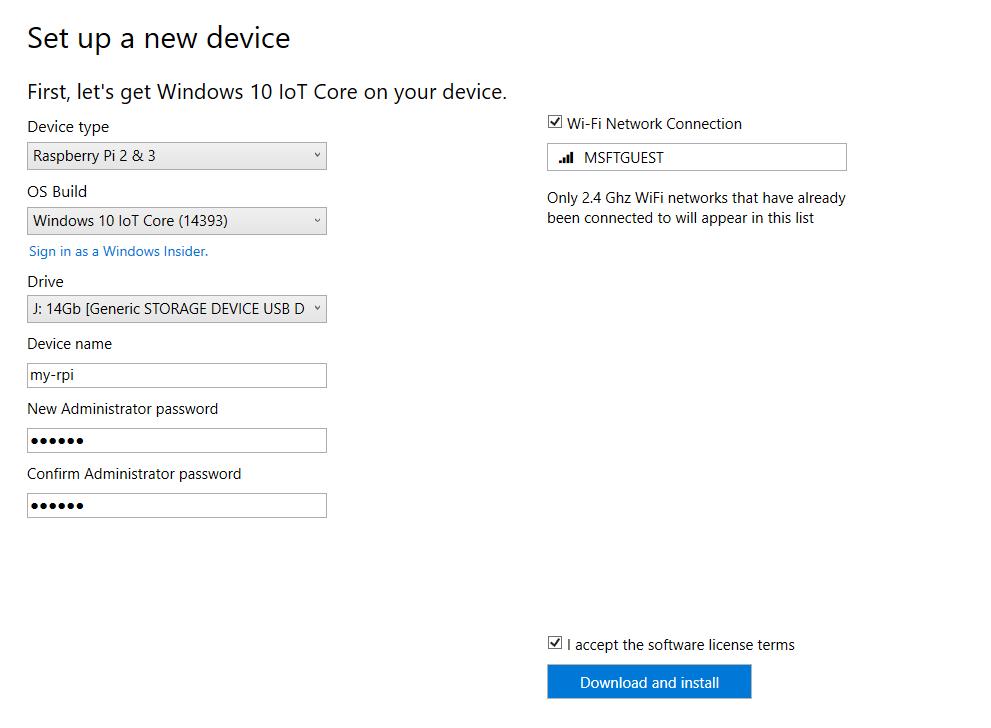 Download Windows IoT Dashboard