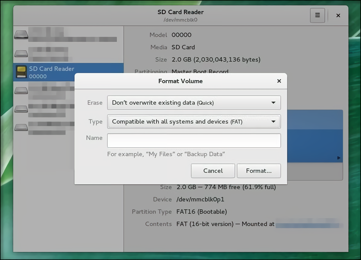 Recording the System to a Memory Card